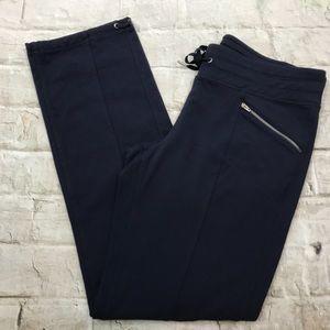 Athlete Navy Blue Nylon Pants Sz Large